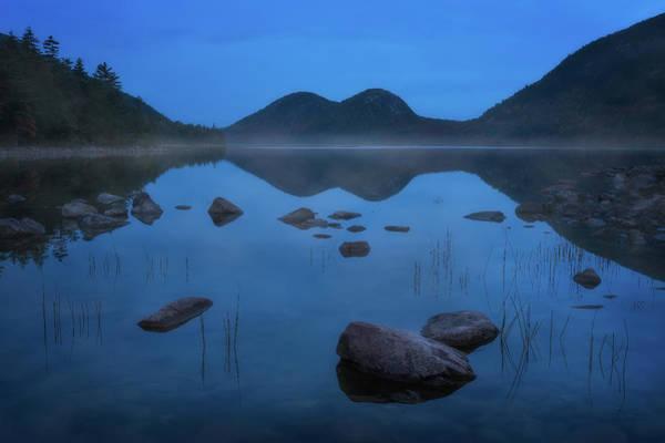 Jordan Pond Photograph - Jordan Pond - Blue Hour by Jeff Bazinet