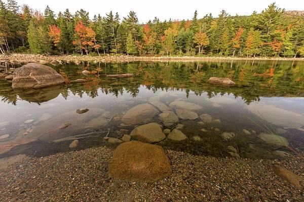 Photograph - Jordan Pond Fall Reflection by Paul Schultz