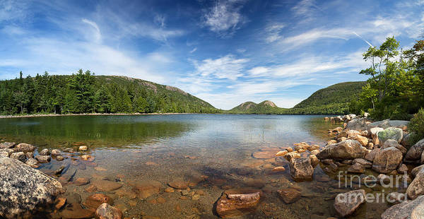 Wall Art - Photograph - Jordan Pond Panorama by Jane Rix