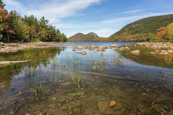 Photograph - Jordan Pond Reflection by Paul Schultz