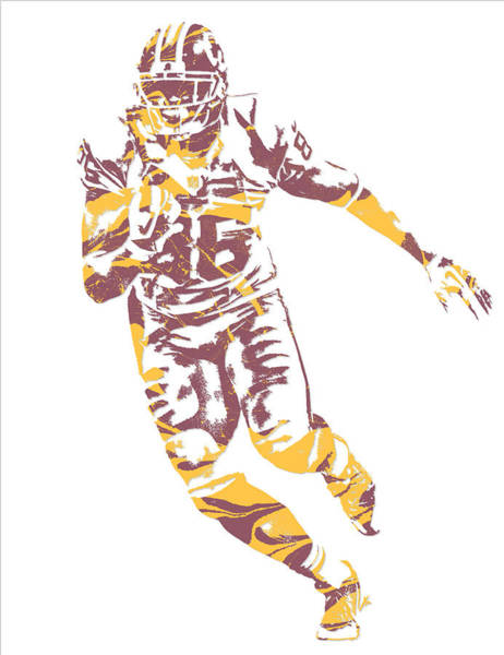 Wall Art - Mixed Media - Jordan Reed Washington Redskins Pixel Art 5 by Joe Hamilton