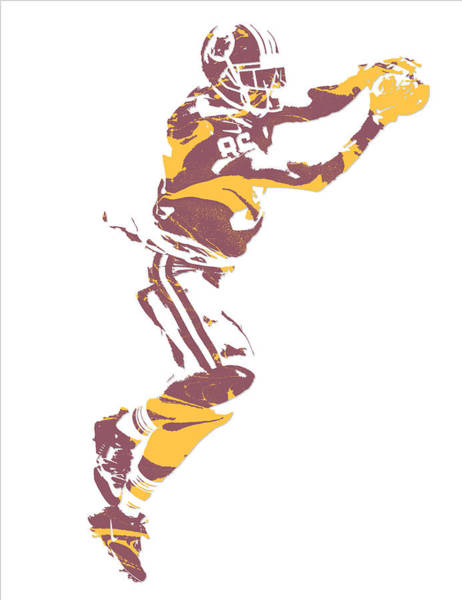 Wall Art - Mixed Media - Jordan Reed Washington Redskins Pixel Art 6 by Joe Hamilton