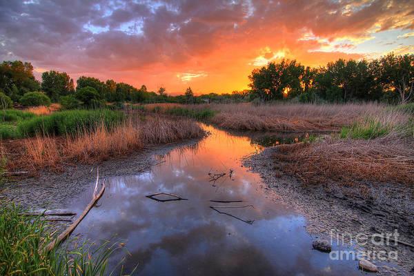 Photograph - Jordan River Parkway Sunset 1 by Spencer Baugh