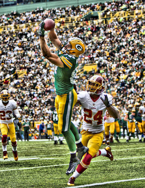 Green Bay Packers Wall Art - Mixed Media - Jordy Nelson Green Bay Packers 5 by Joe Hamilton