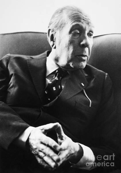 1976 Photograph - Jorge Luis Borges (1899-1986) by Granger