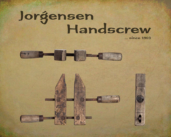 Wall Art - Photograph - Jorgensen Handscrew by Tom Mc Nemar
