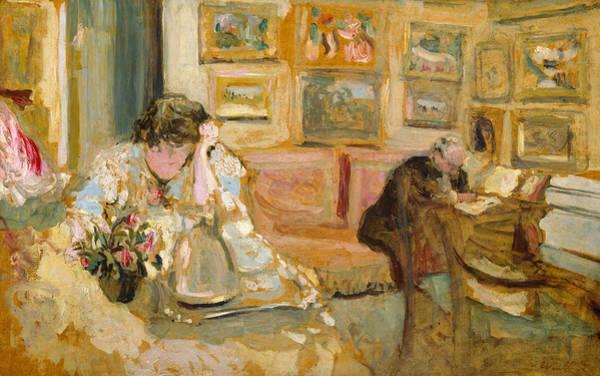 Painting - Jos And Lucie Hessel In The Small Salon, Rue De Rivoli  by Edouard Vuillard