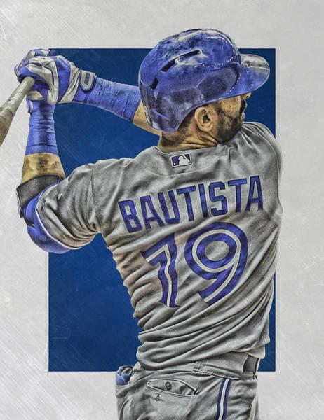 Wall Art - Mixed Media - Jose Bautista Toronto Blue Jays Art 2 by Joe Hamilton