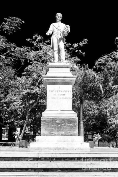 Photograph - Jose Fernandez Madrid Statue by John Rizzuto