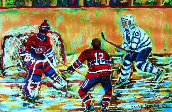 Painting - Jose Theodore The Goalkeeper by Carole Spandau