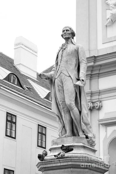 Photograph - Josef Haydn In Black And White by Angela Rath