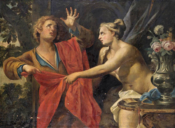 Wall Art - Painting - Joseph And Potiphar's Wife by After Francesco Trevisani