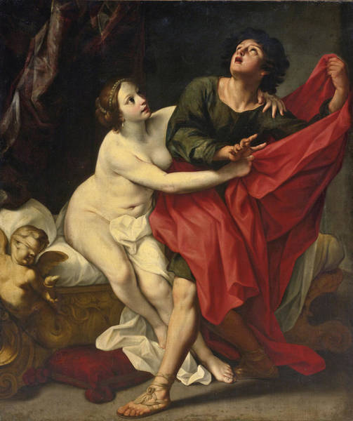 Wall Art - Painting - Joseph And Potiphar's Wife by Studio of Carlo Cignani