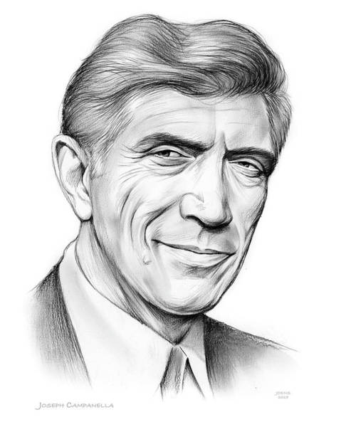 Television Drawing - Joseph Campanella by Greg Joens