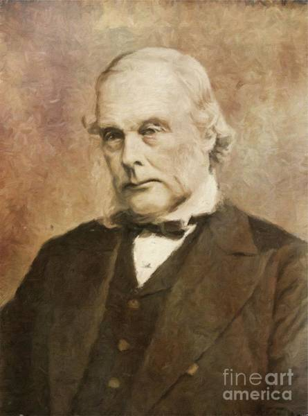 Poetry Painting - Joseph Lister, Medical Pioneer By Mary Bassett by Mary Bassett