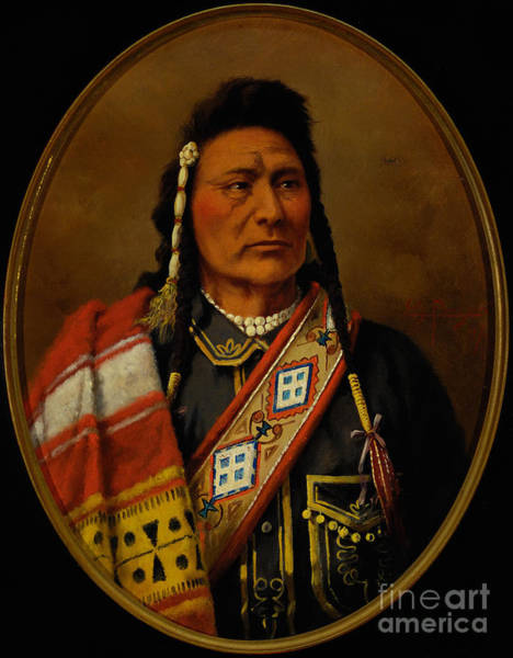 Native American Culture Painting - Joseph - Nez Perce by Celestial Images