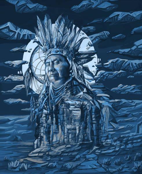 Native Painting - Joseph Nez Perce Decorative Portrait by Bekim M