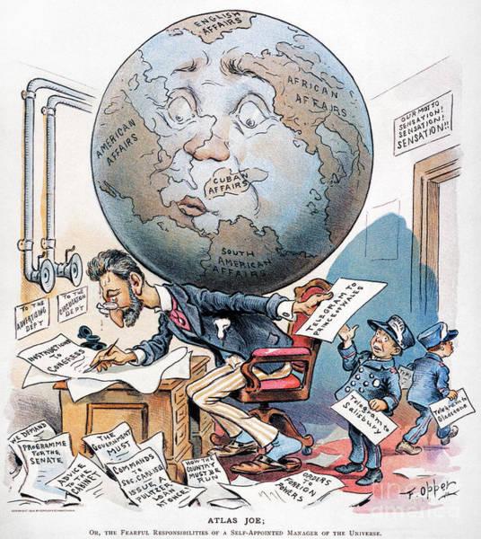 Photograph - Joseph Pulitzer Cartoon by Granger