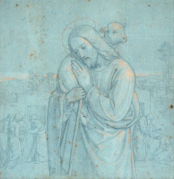 Drawing - The Good Shepherd by Joseph von Fuehrich