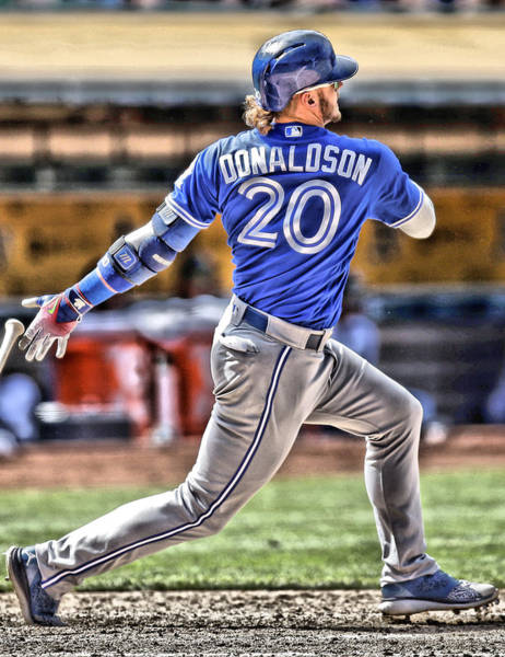 Wall Art - Painting - Josh Donaldson Toronto Blue Jays by Joe Hamilton
