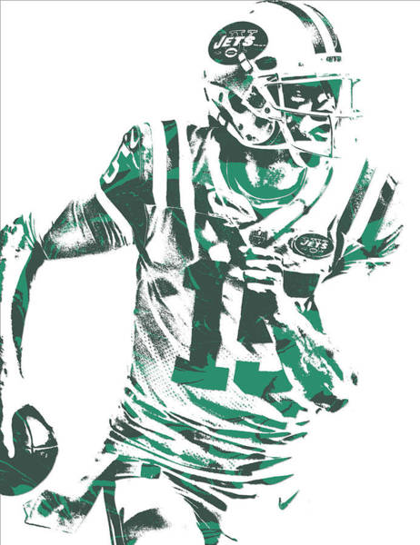 New York Jets Wall Art - Mixed Media - Josh Mccown New York Jets Pixel Art 1 by Joe Hamilton