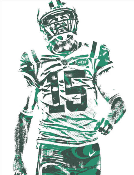 New York Jets Wall Art - Mixed Media - Josh Mccown New York Jets Pixel Art 2 by Joe Hamilton