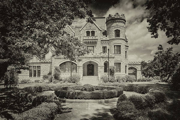 Photograph - Joslyn Castle In Black And White by Susan Rissi Tregoning