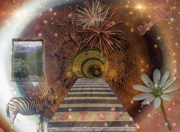 Digital Art - Journey Through The Crystal Keyhole  by Karen Buford