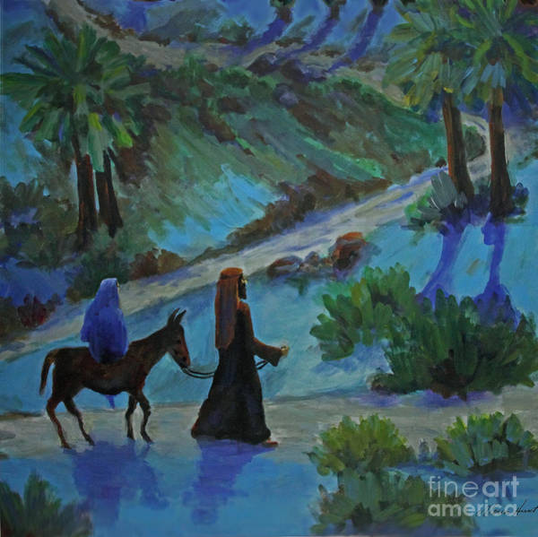 Wall Art - Painting - Journey To Bethlehem  by Maria Hunt