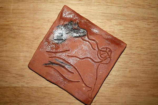 Ceramic Art - Journeys - Fleeing 2 - Tile by Gloria Ssali
