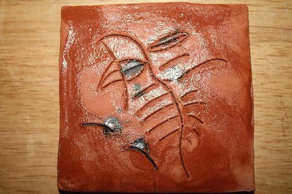 Ceramic Art - Journeys 10 - Tile by Gloria Ssali