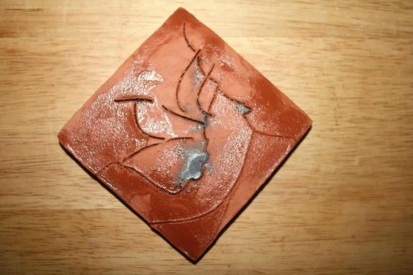 Ceramic Art - Journeys 12 - Tile by Gloria Ssali