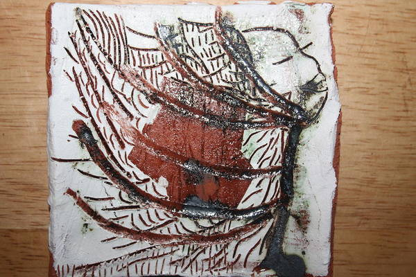 Ceramic Art - Journeys 13 - Tile by Gloria Ssali