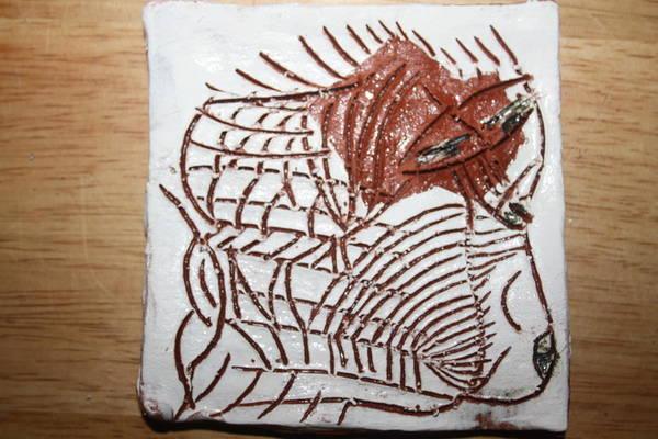 Ceramic Art - Journeys 5 - Tile by Gloria Ssali