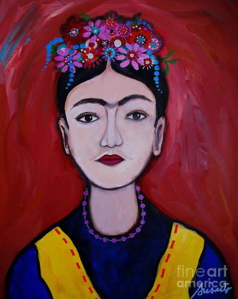 Painting - Joven Frida Kahlo by Pristine Cartera Turkus