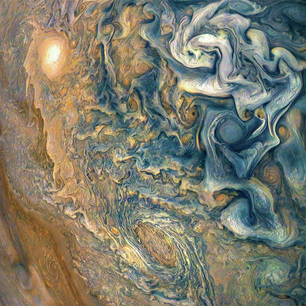 Spacecraft Wall Art - Photograph - Jovian Abstract 2 by Nasa