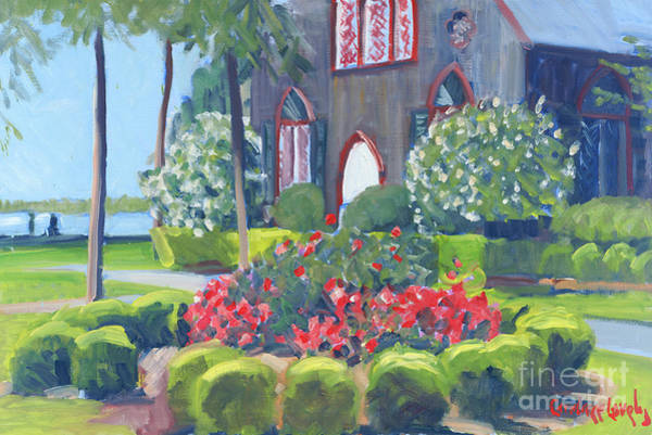 Church Yard Painting - Joy At The Church Of The Cross by Candace Lovely