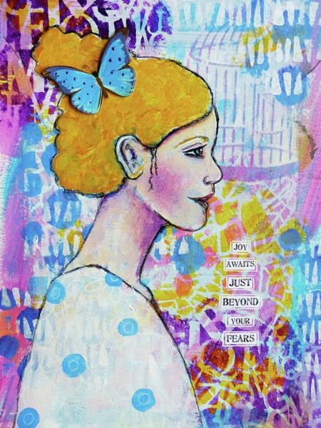 Joyous Mixed Media - Joy Awaits by Lynn Colwell