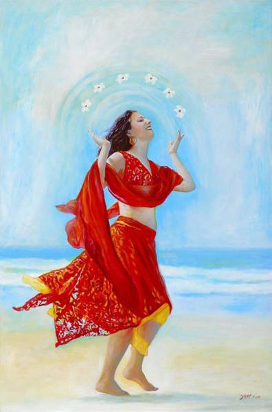 Belly Dancing Painting - Joy by Michal Shimoni