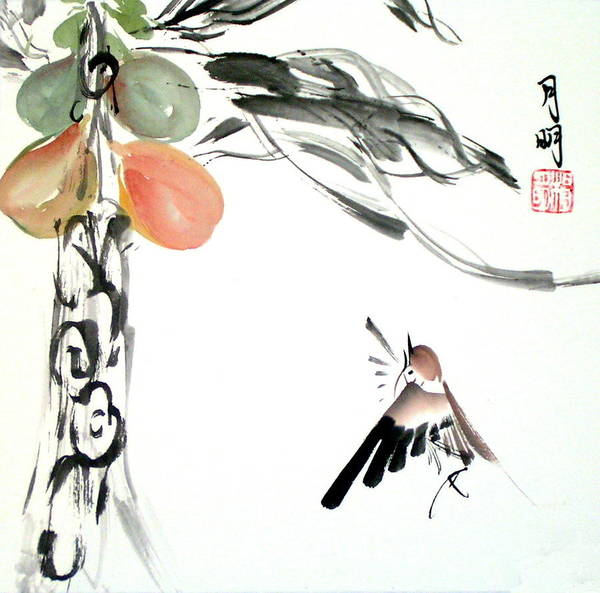 Ming Tree Painting - Joy Of Harvest by Ming Yeung