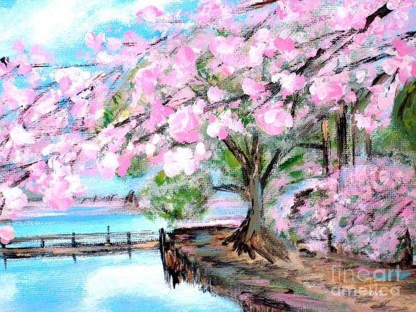 Painting - Joy Of Spring. For Sale Art Prints And Cards by Oksana Semenchenko