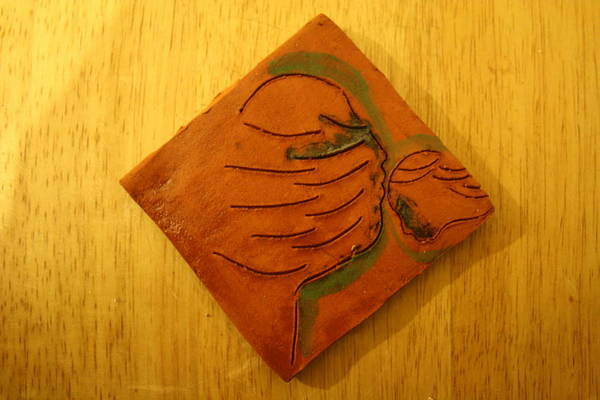 Ceramic Art - Joy Tears - Tile by Gloria Ssali