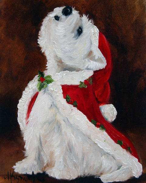 Canine Wall Art - Painting - Joy To The World by Mary Sparrow