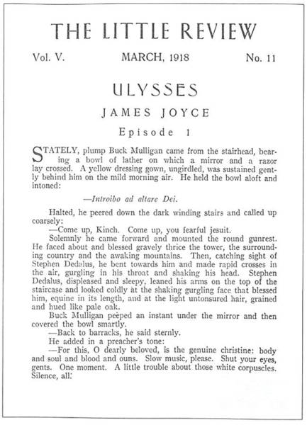 Photograph - Joyce: Ulysses, 1918 by Granger