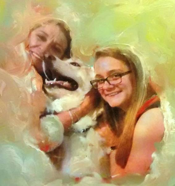 Husky Mixed Media - Joyful Afternoon by Patricia Clark Taylor