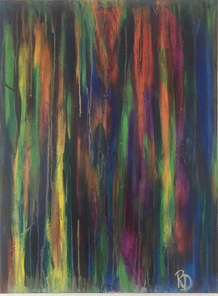 Art Print featuring the painting Joyful Forest by Rebecca Davidson