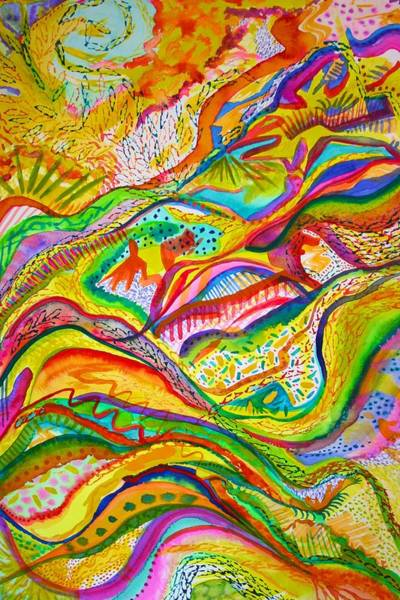 Painting - Joyful Release by Polly Castor