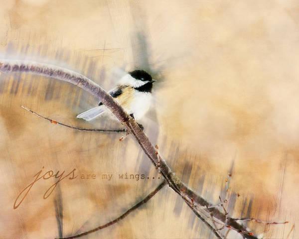Photograph - Joys Are My Wings Chickadee Art by Christina VanGinkel