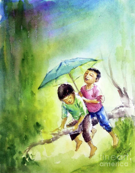 Painting - Joys Of Childhood by Asha Sudhaker Shenoy