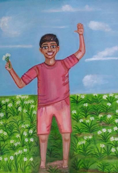 High Jump Painting - Joyy by Suma GV